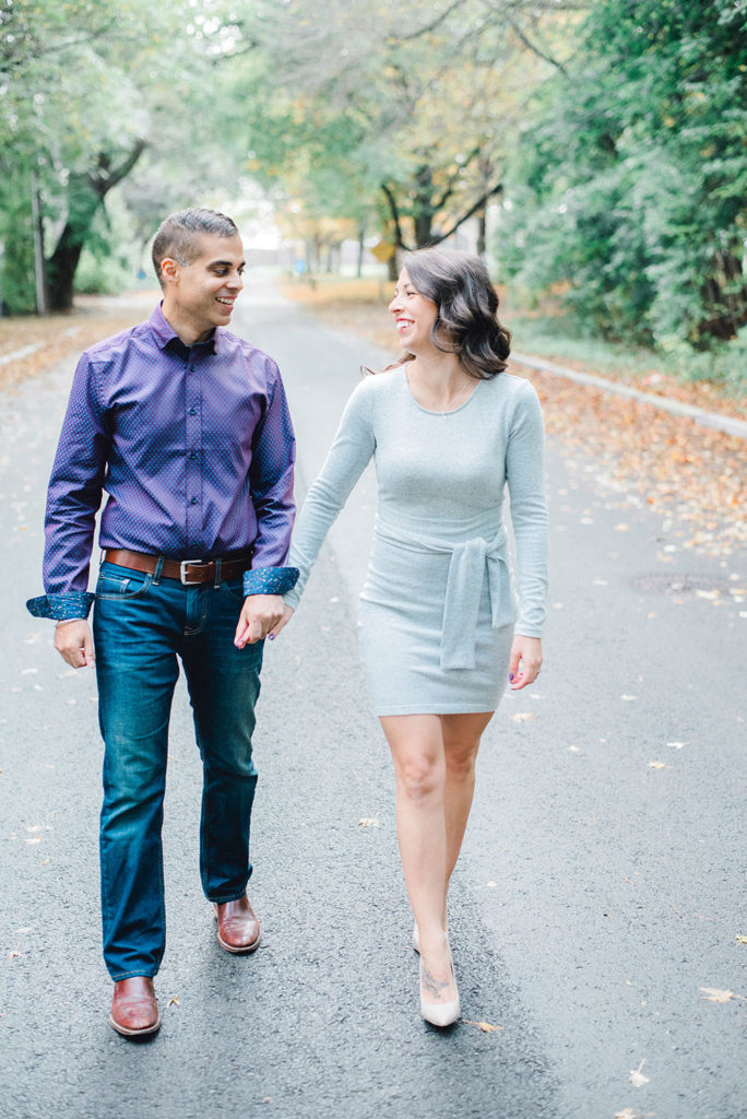 Engaged_Couple_Walking_Hand_in_Hand_Verveine_Studios_Toronto_Photographer